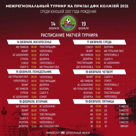 Межрегиональный турнир на призы ДФК Колизей